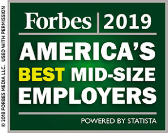 Forbes 2019, America's best midsize employers