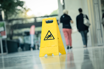 Slip warning sign