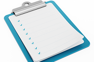 Clipboard showing checklist