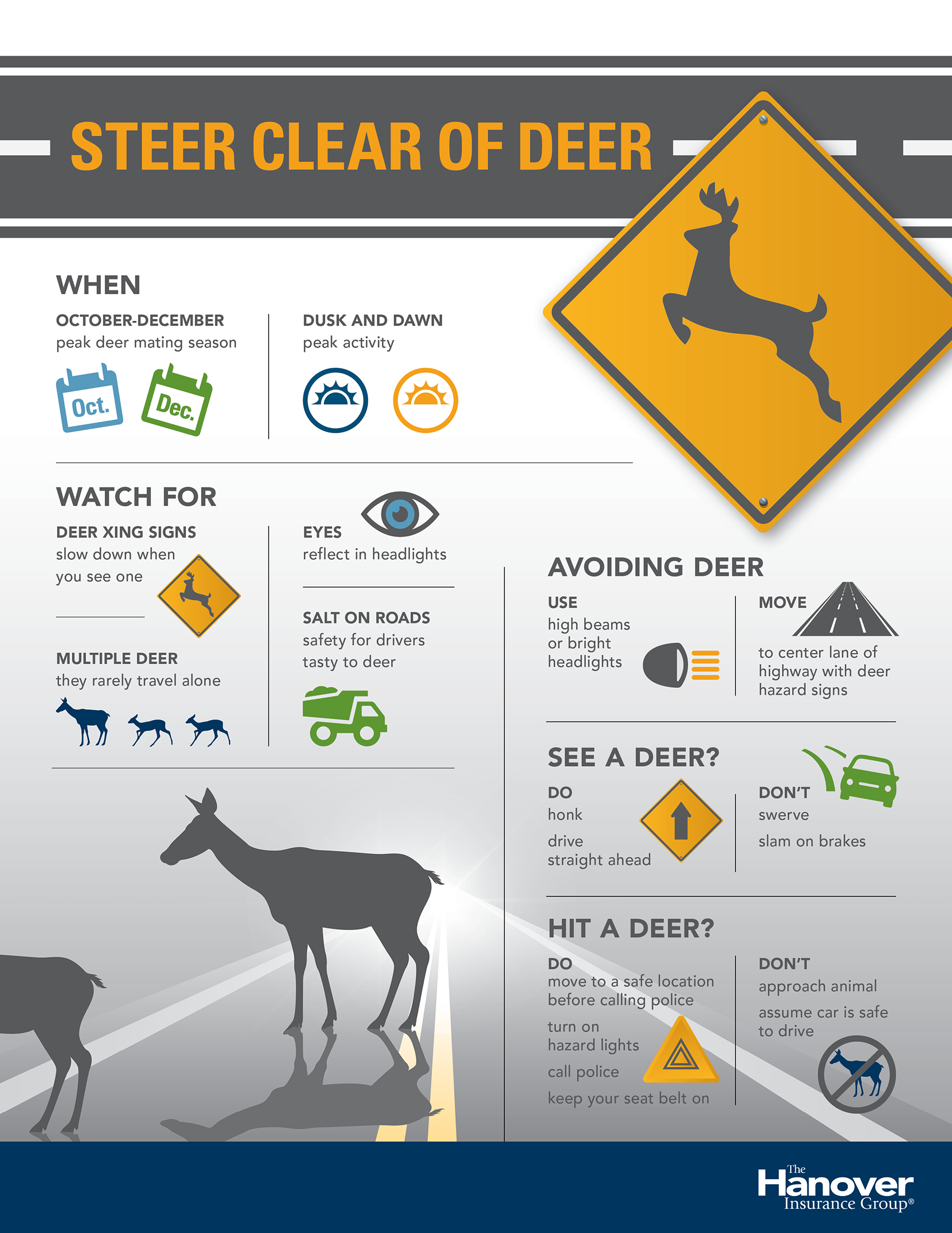 steer clear of deer infographic