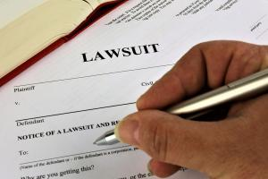 Filing a lawsuit as a result of an employment practices liability claim.
