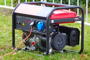 Portable generator outside in the grass