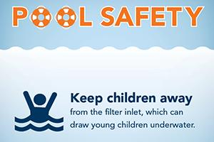 Graphic showing pool safety tip