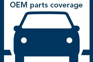 OEM parts coverage graphic