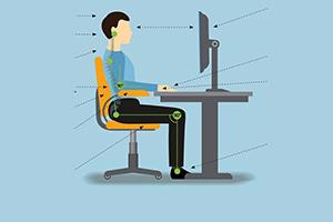 Sitting workstation graphic