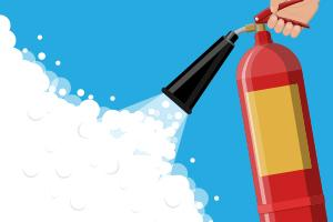 Fire extinguisher graphic