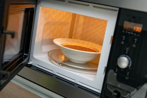 microwave with soup