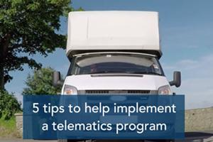 5 tips to help implement a telematics program video