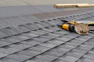 roofing materials on the roof